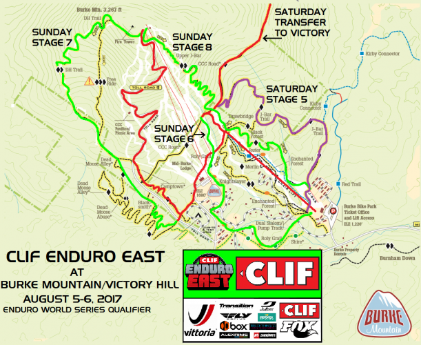 Maps Released for the CLIF Enduro East at Burke Mountain / Victory Hill